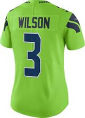 Nike Women's Seattle Seahawks Russell Wilson #3 Turbo Green Limited Jersey product image