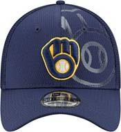 New Era Men's Milwaukee Brewers Navy 39Thirty Tonel Neo Stretch Fit Hat product image