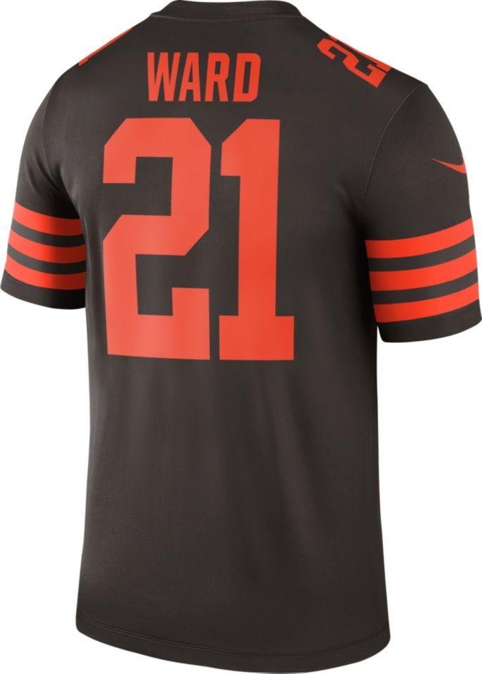 best loved 1962e dc934 Nike Men's Color Rush Legend Brown Jersey Cleveland Browns Denzel Ward #21