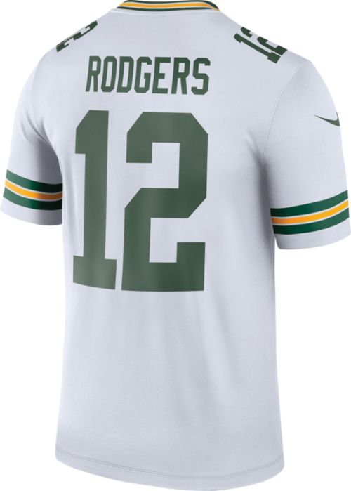 5b6ba289fc6 ... Green Bay Packers Aaron Rodgers  12 Legend Jersey. noImageFound.  Previous. 1. 2. 3