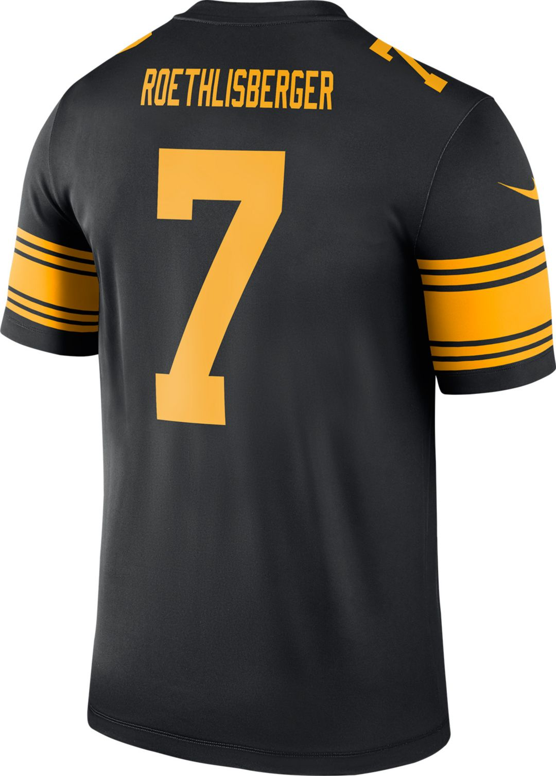sports shoes 746ef dea33 Nike Men's Color Rush Pittsburgh Steelers Ben Roethlisberger #7 Legend  Jersey