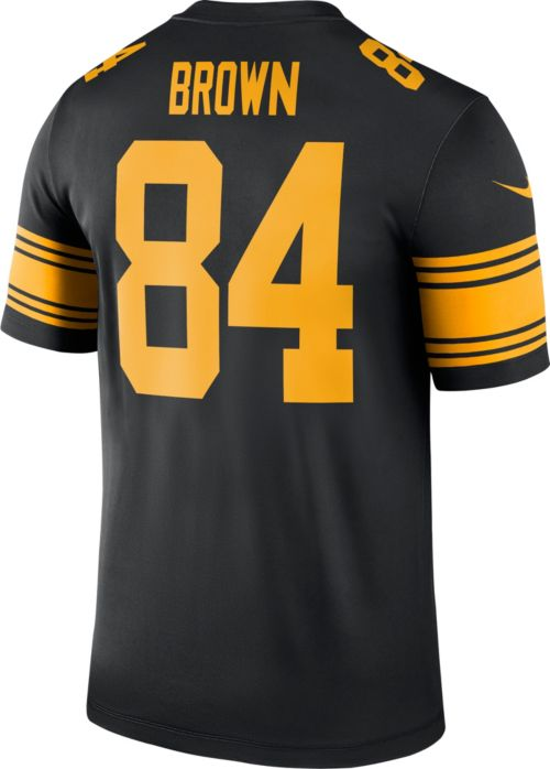 Nike Men s Color Rush Pittsburgh Steelers Antonio Brown  84 Legend Jersey.  noImageFound. Previous. 1. 2. 3 1318595a9a2