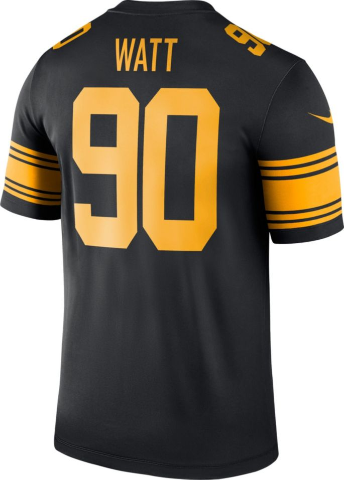 new style 475c8 32366 Nike Men's Color Rush Legend Jersey Pittsburgh Steelers T.J. Watt #90