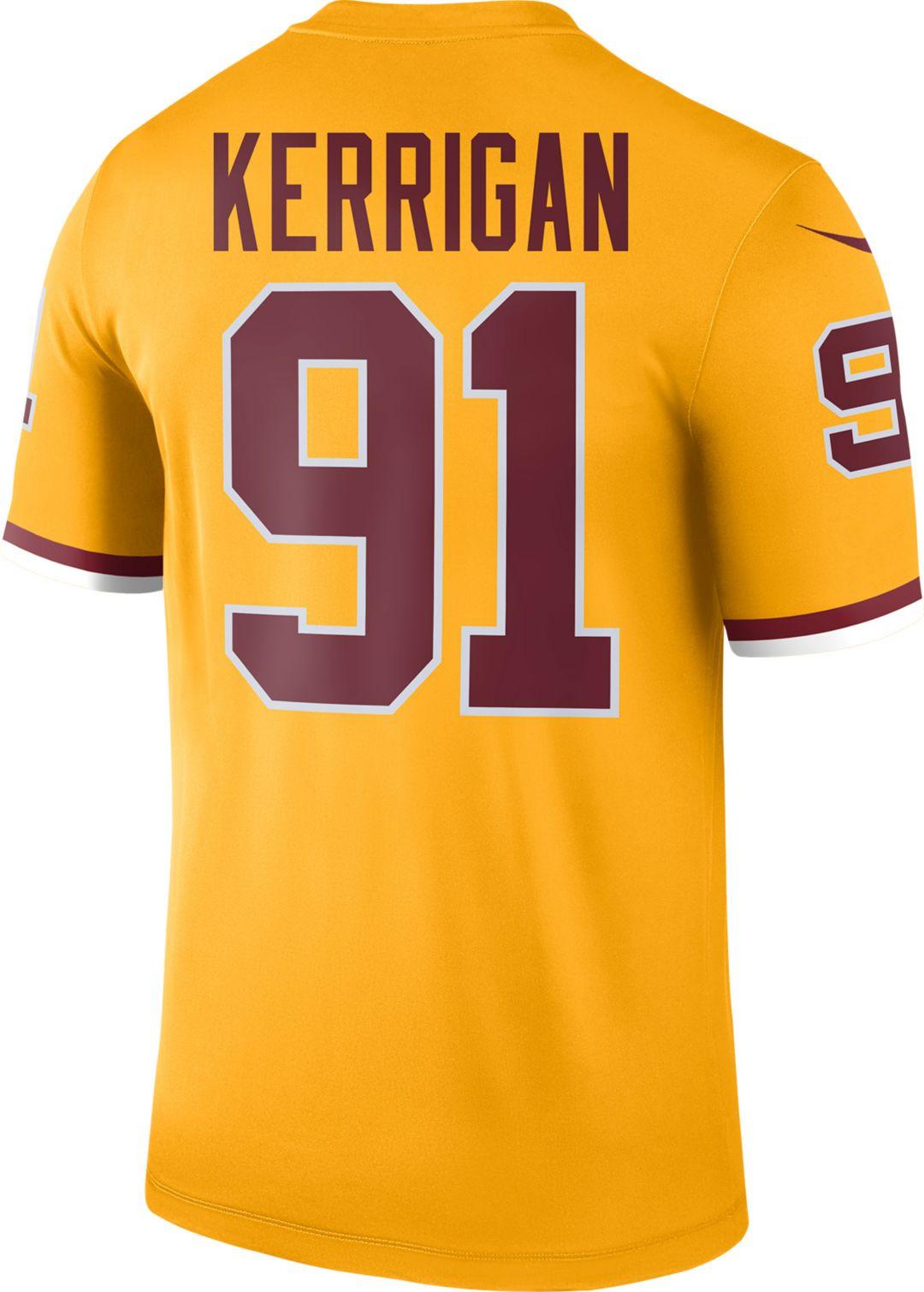hot sale online 4ef2e a1200 Nike Men's Color Rush Washington Redskins Ryan Kerrigan #91 Legend Jersey