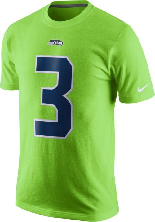 Nike Men s Seattle Seahawks Russell Wilson  3 Color Rush 2017 Pride ... d79cee612