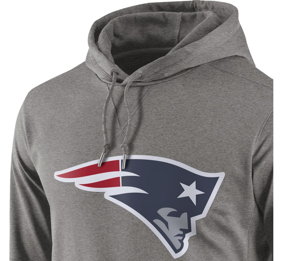 2cb62c43 Nike Men's New England Patriots Performance Circuit Logo Essential Grey  Hoodie