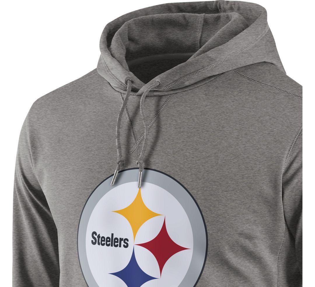newest 10f48 f15c4 Nike Men's Pittsburgh Steelers Performance Circuit Logo Essential Grey  Hoodie