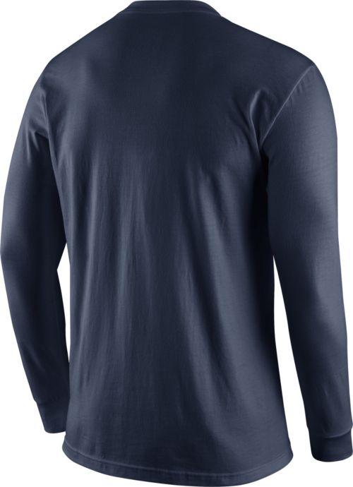 19885455543 Nike Men s New England Patriots Logo Navy Long Sleeve Shirt
