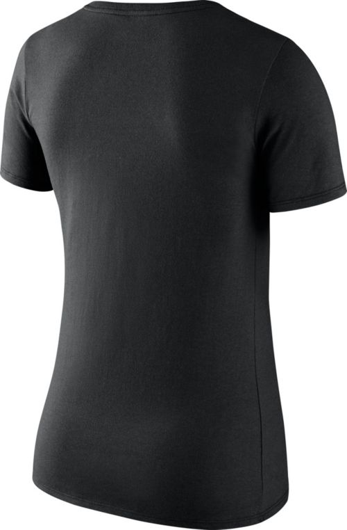 b638650b6 Nike Women's Oakland Raiders Primary Logo Black Scoop Neck T-Shirt ...