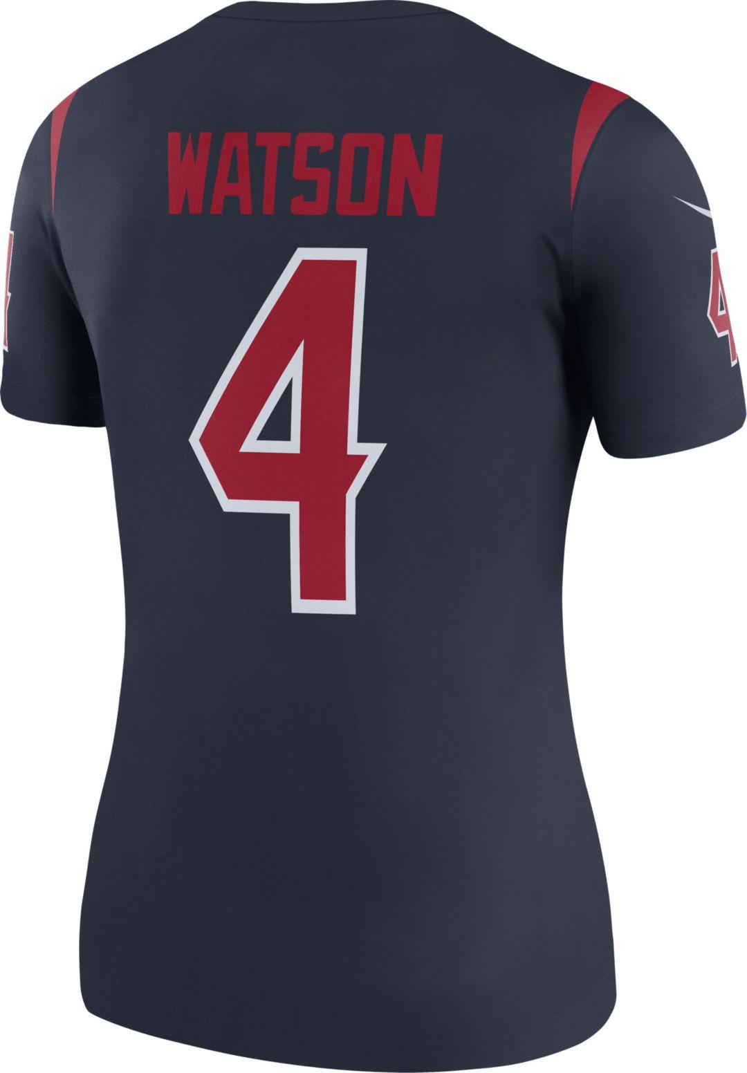 cheap for discount c7bc7 b06a0 Nike Women's Color Rush Legend Jersey Houston Texans Deshaun Watson #4