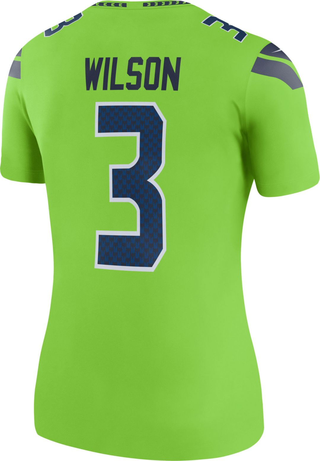 reputable site 5076a 4563c Nike Women's Color Rush Legend Jersey Seattle Seahawks Russell Wilson #3