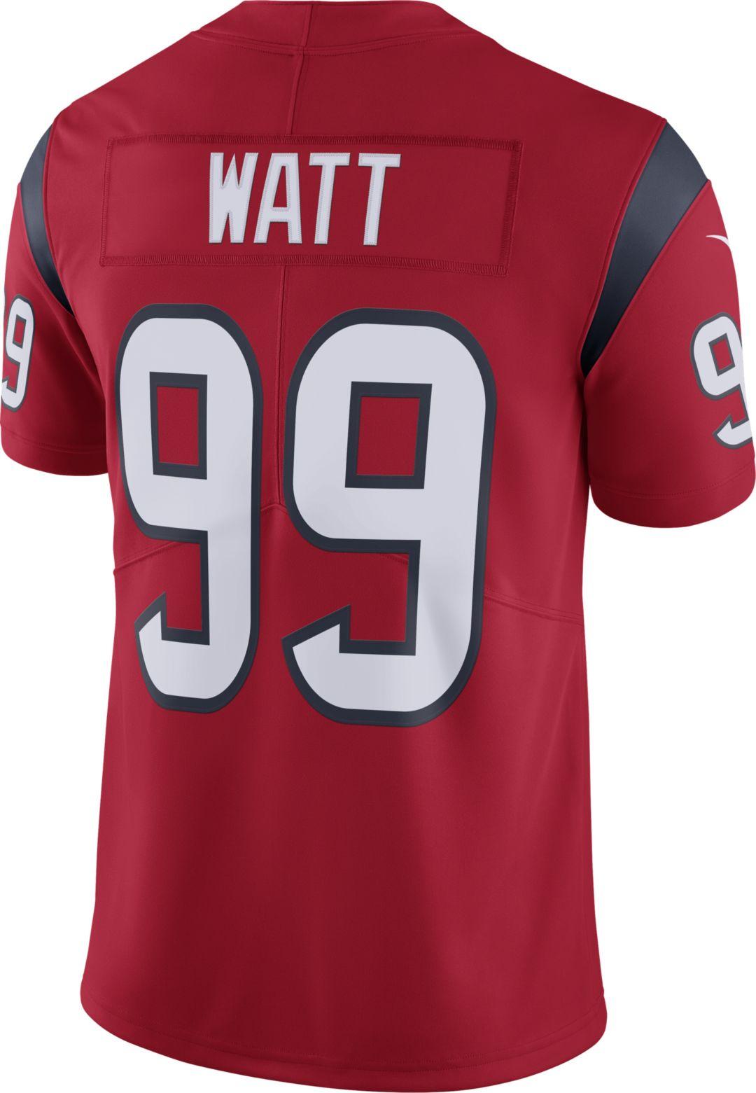 half off e09a4 74788 Nike Men's Alternate Limited Jersey Houston Texans J.J. Watt #99