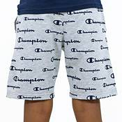 Champion Boys' French Terry Allover Print Script Shorts product image