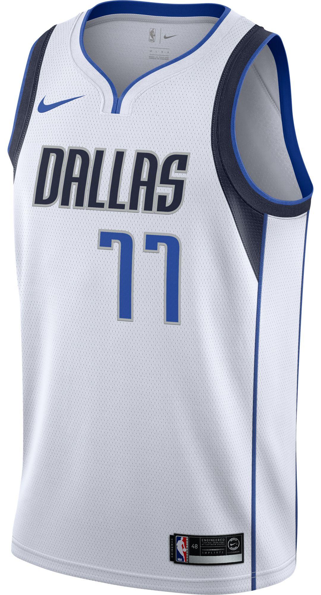 low priced 5f332 619e0 Nike Men's Dallas Mavericks Luka Doncic #77 White Dri-FIT Swingman Jersey