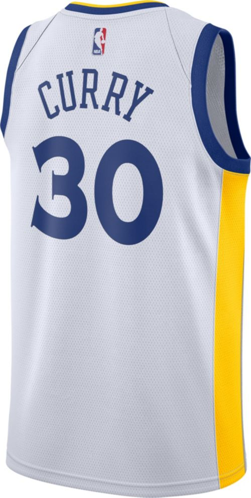b0155d1d Nike Men's Golden State Warriors Stephen Curry #30 White Dri-FIT Swingman  Jersey. noImageFound. Previous. 1. 2. 3