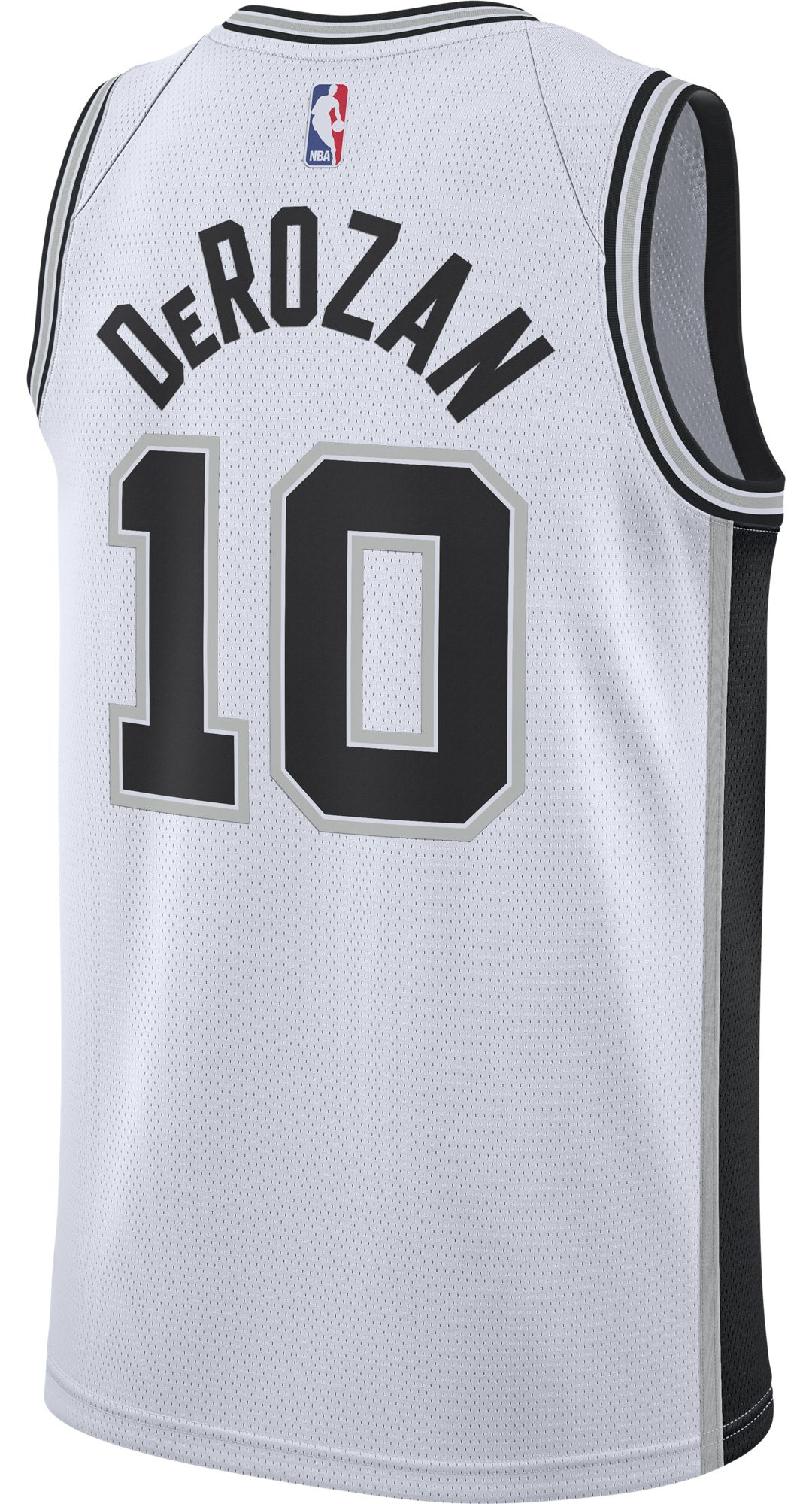 more photos e1591 d8c02 Nike Men's San Antonio Spurs DeMar DeRozan #10 White Dri-FIT Swingman Jersey