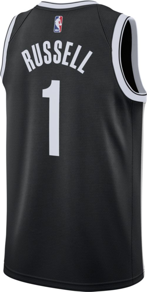 5eca0b638 Nike Men s Brooklyn Nets D Angelo Russell  1 Black Dri-FIT Swingman Jersey.  noImageFound. Previous. 1. 2. 3