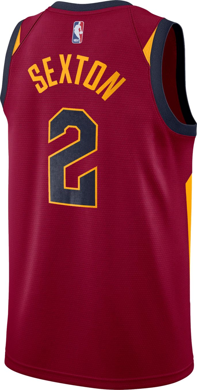 best cheap 7e2f9 180f7 Nike Men's Cleveland Cavaliers Collin Sexton #2 Burgundy Dri-FIT Swingman  Jersey