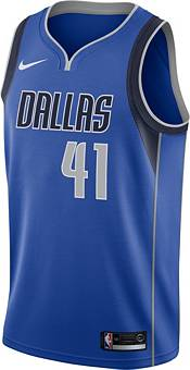 Nike Men's Dallas Mavericks Dirk Nowitzki #41 Royal Dri-FIT Swingman Jersey product image