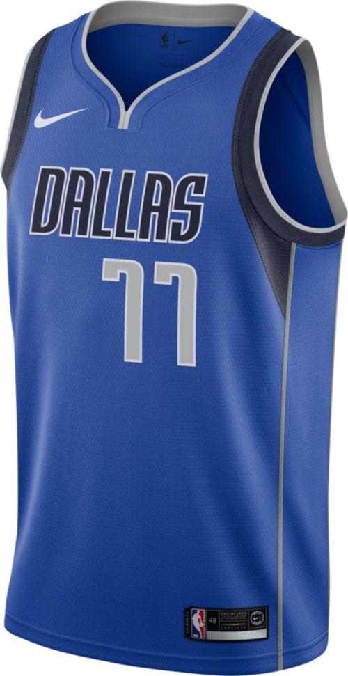8db145b5356a Nike Men s Dallas Mavericks Luka Doncic  77 Royal Dri-FIT Swingman Jersey