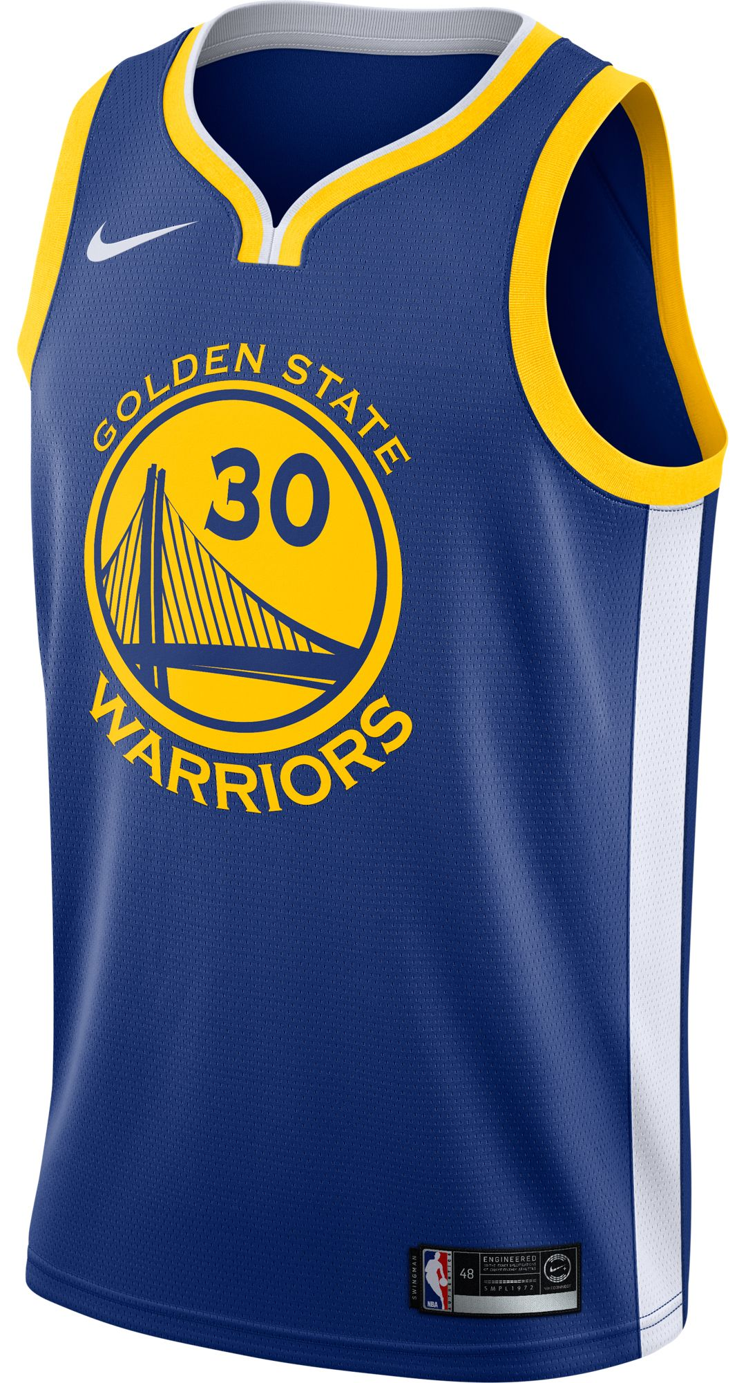 new style 846d1 5c301 Nike Men's Golden State Warriors Stephen Curry #30 Royal Dri-FIT Swingman  Jersey