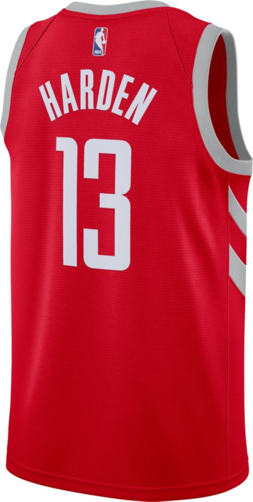 f69cc5eca58 Nike Men's Houston Rockets James Harden #13 Red Dri-FIT Swingman Jersey.  noImageFound. Previous. 1. 2. 3