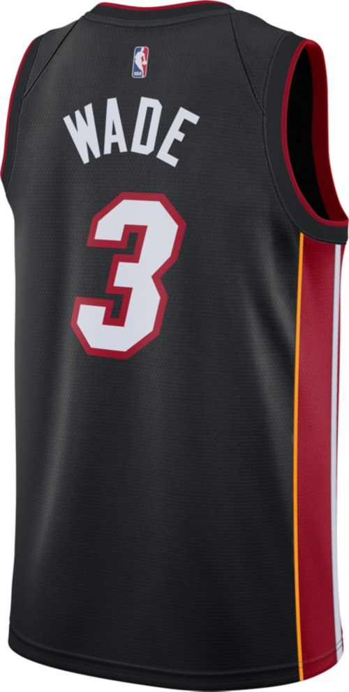 9c965d846ba Nike Men s Miami Heat Dwyane Wade  3 Black Dri-FIT Swingman Jersey.  noImageFound. Previous. 1. 2. 3