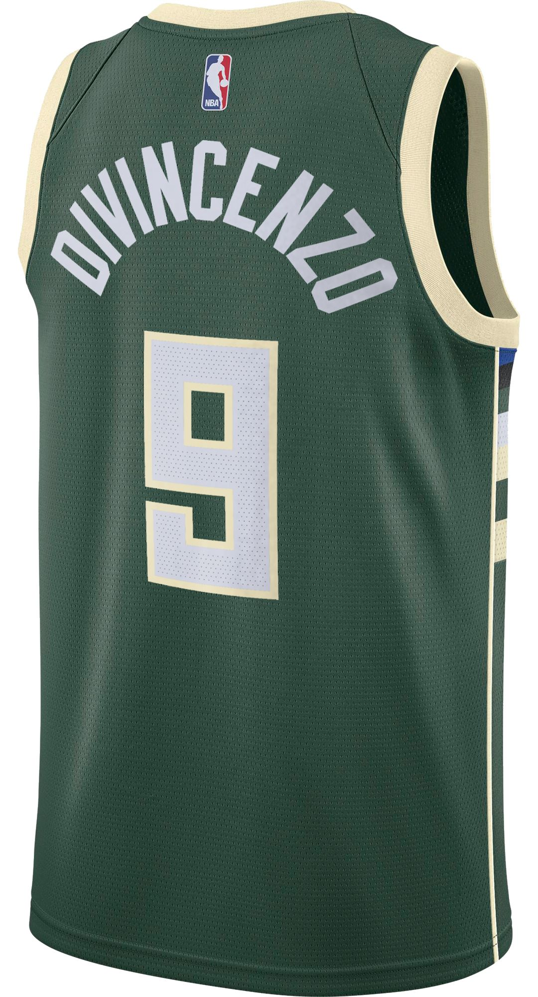 size 40 85ae3 33dd6 Nike Men's Milwaukee Bucks Donte DiVincenzo #9 Green Dri-FIT Swingman Jersey