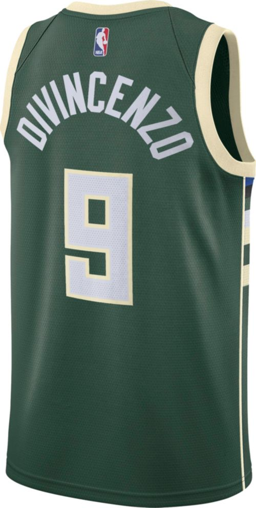 5dd4d78fa8b Nike Men s Milwaukee Bucks Donte DiVincenzo  9 Green Dri-FIT Swingman Jersey.  noImageFound. Previous. 1. 2. 3
