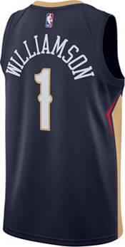Nike Men's New Orleans Pelicans Zion Williamson #1 Navy Dri-FIT Swingman Jersey product image