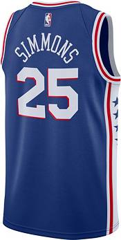 Nike Men's Philadelphia 76ers Ben Simmons #25 Royal Dri-FIT Swingman Jersey product image