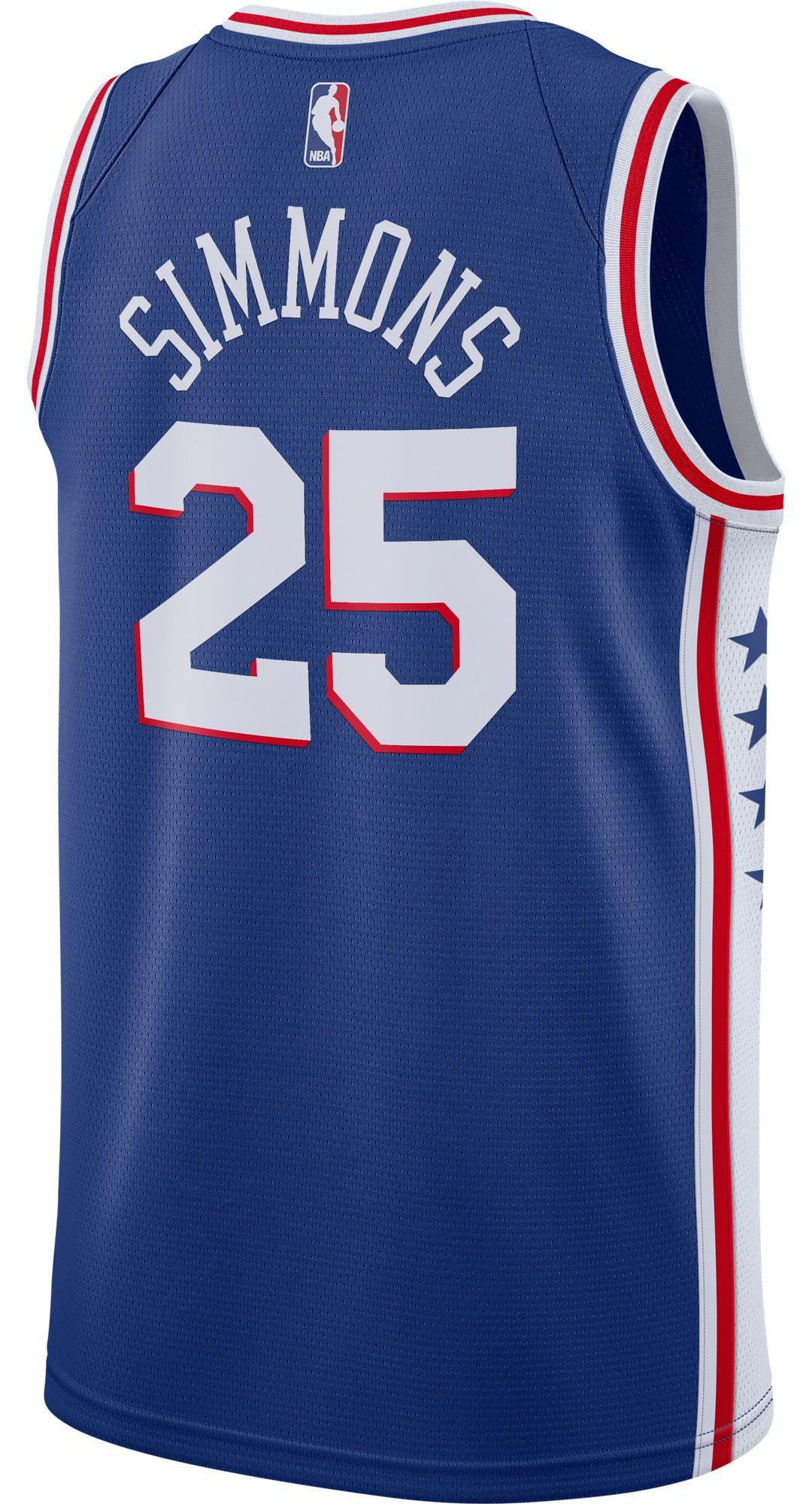 new arrival 578c3 79d7d Nike Men's Philadelphia 76ers Ben Simmons #25 Royal Dri-FIT Swingman Jersey