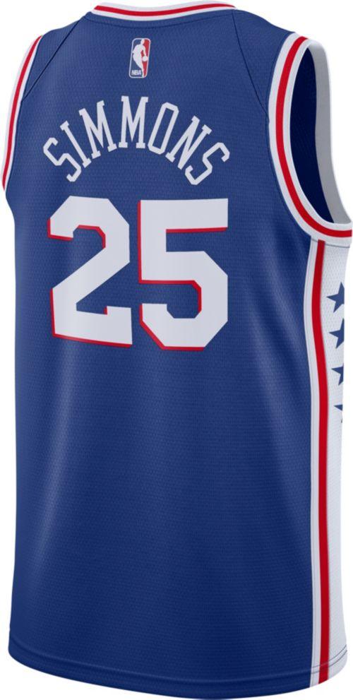 Nike Men s Philadelphia 76ers Ben Simmons  25 Royal Dri-FIT Swingman  Jersey. noImageFound. Previous. 1. 2. 3 e9de0b40a