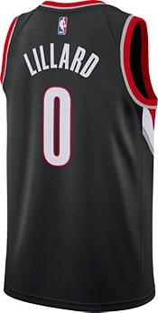 Nike Men's Portland Trail Blazers Damian Lillard #0 Black Dri-FIT Swingman Jersey product image