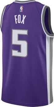 Nike Men's Sacramento Kings De'Aaron Fox #5 Purple Dri-FIT Swingman Jersey product image