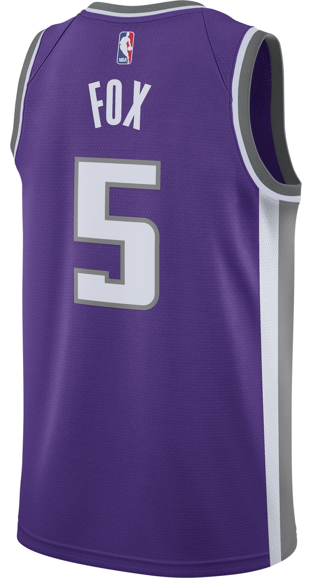 7a4378d7fa4 Nike Men's Sacramento Kings De'Aaron Fox #5 Purple Dri-FIT Swingman Jersey