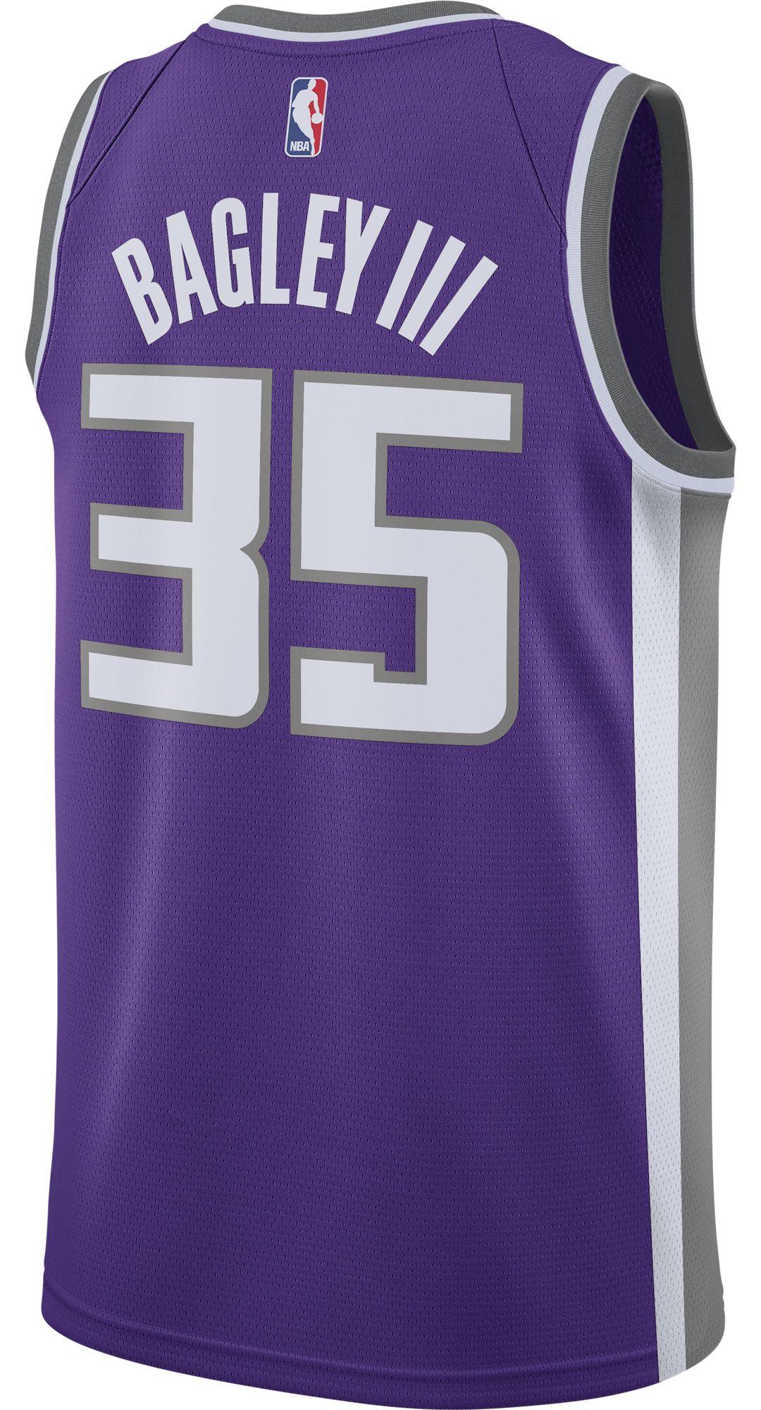 3c87489592d Nike Men's Sacramento Kings Marvin Bagley III #35 Purple Dri-FIT Swingman  Jersey 3