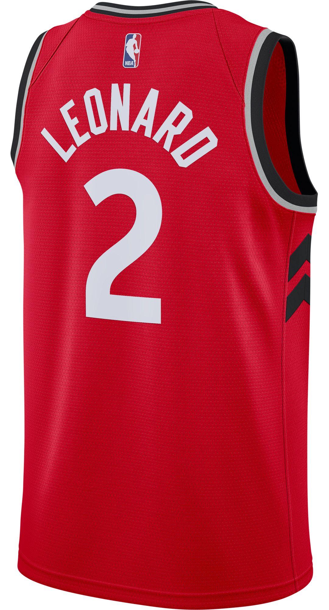 a3e61c700fab Nike Men s Toronto Raptors Kawhi Leonard  2 Red Dri-FIT Swingman Jersey 3