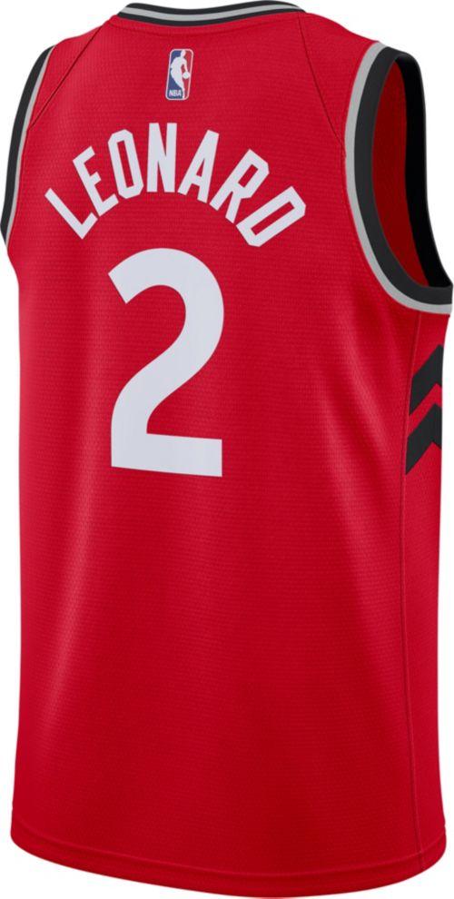 1354e6b67 Nike Men s Toronto Raptors Kawhi Leonard  2 Red Dri-FIT Swingman Jersey.  noImageFound. Previous. 1. 2. 3