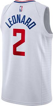 Nike Men's Los Angeles Clippers Kawhi Leonard #2 White Dri-FIT Swingman Jersey product image