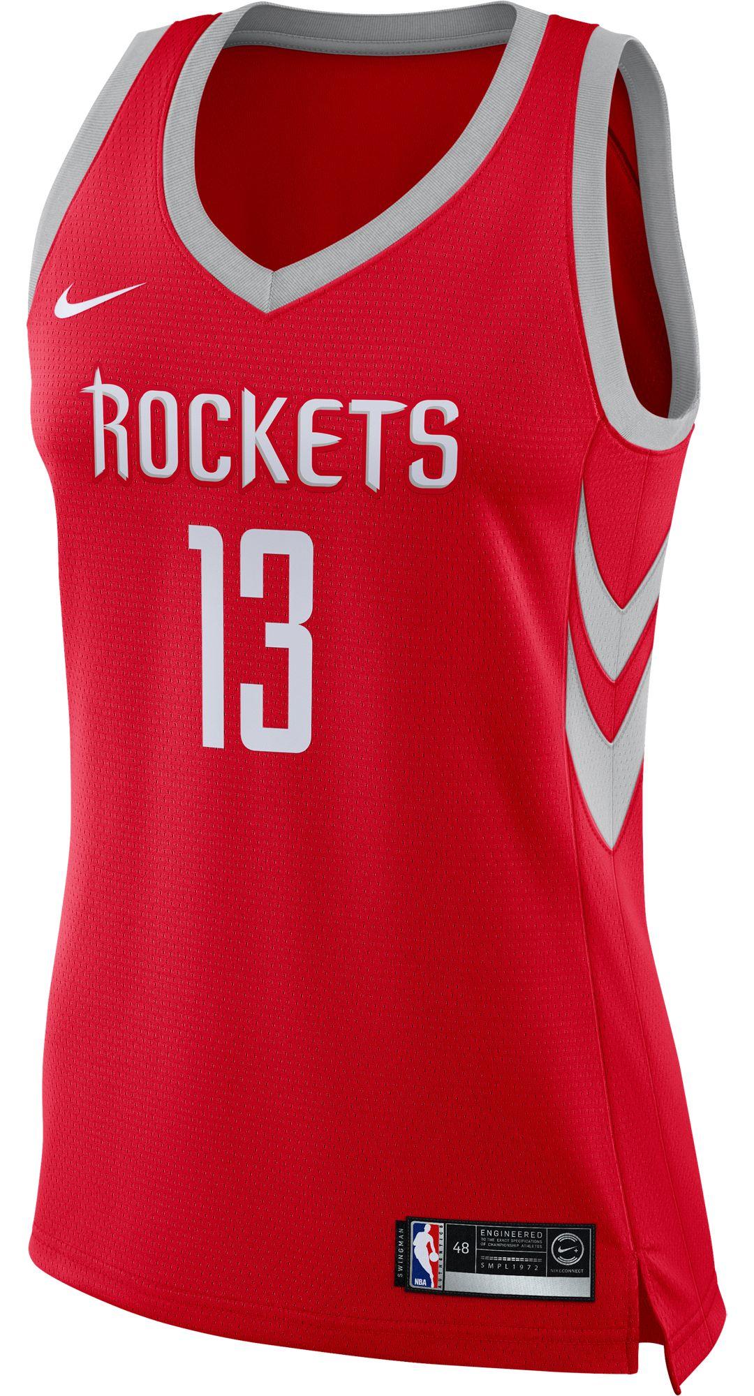 low priced 3ae8d 945f8 Nike Women's Houston Rockets James Harden #13 Red Dri-FIT Swingman Jersey