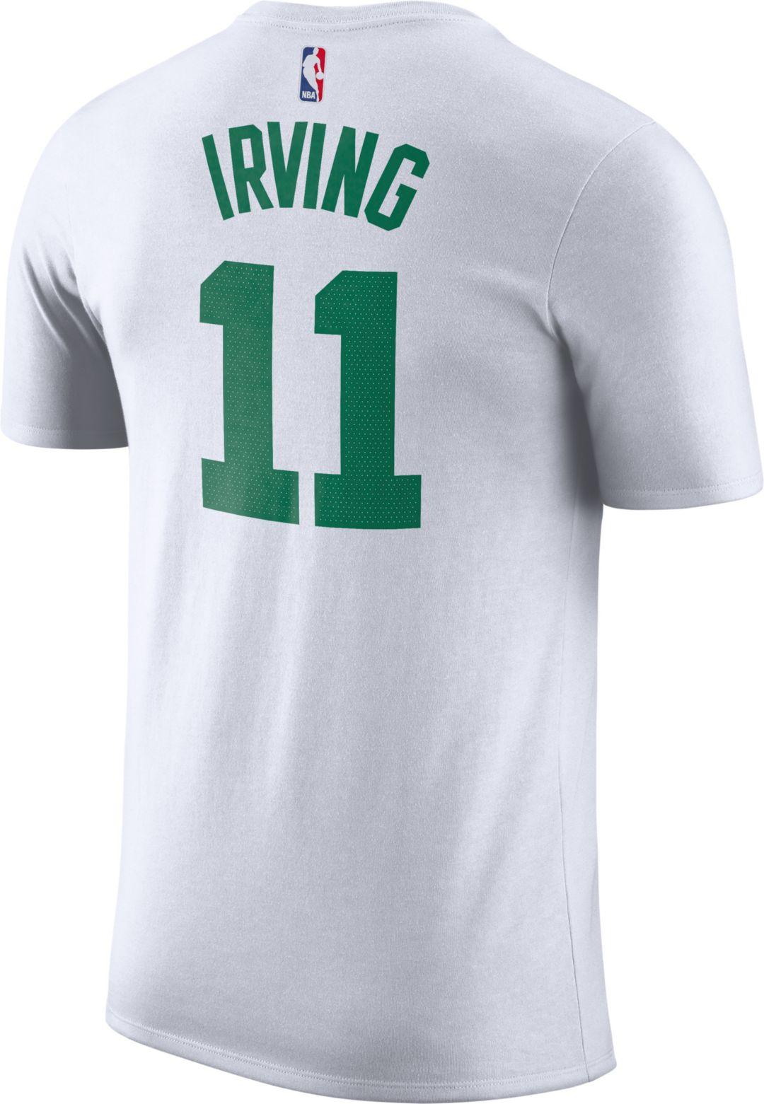 ab97ad7ce Nike Men's Boston Celtics Kyrie Irving #11 Dri-FIT White T-Shirt.  noImageFound. Previous. 1. 2. 3