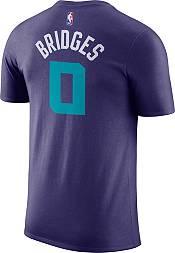 Jordan Men's Charlotte Hornets Miles Bridges #0 Dri-FIT Purple T-Shirt product image