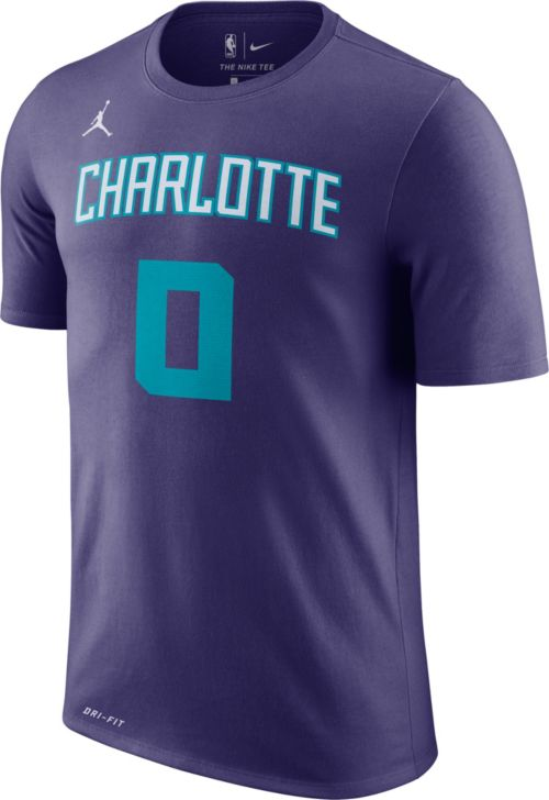67aa28637dc0 ... coupon for jordan mens charlotte hornets miles bridges 0 dri fit purple  t shirt d1654 e7656
