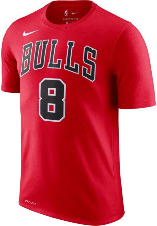 e542c95a2 Nike Men's Chicago Bulls Zack Lavine #8 Dri-FIT Red T-Shirt | DICK'S ...