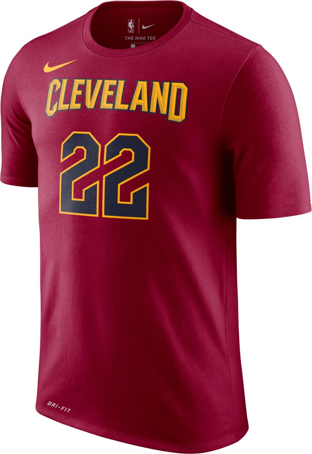 10c53f80 Nike Men's Cleveland Cavaliers Larry Nance Jr. #22 Dri-FIT Burgundy T-Shirt