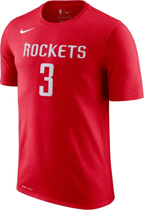 7352bc0c Nike Men's Houston Rockets Chris Paul #3 Dri-FIT Red T-Shirt. noImageFound.  Previous