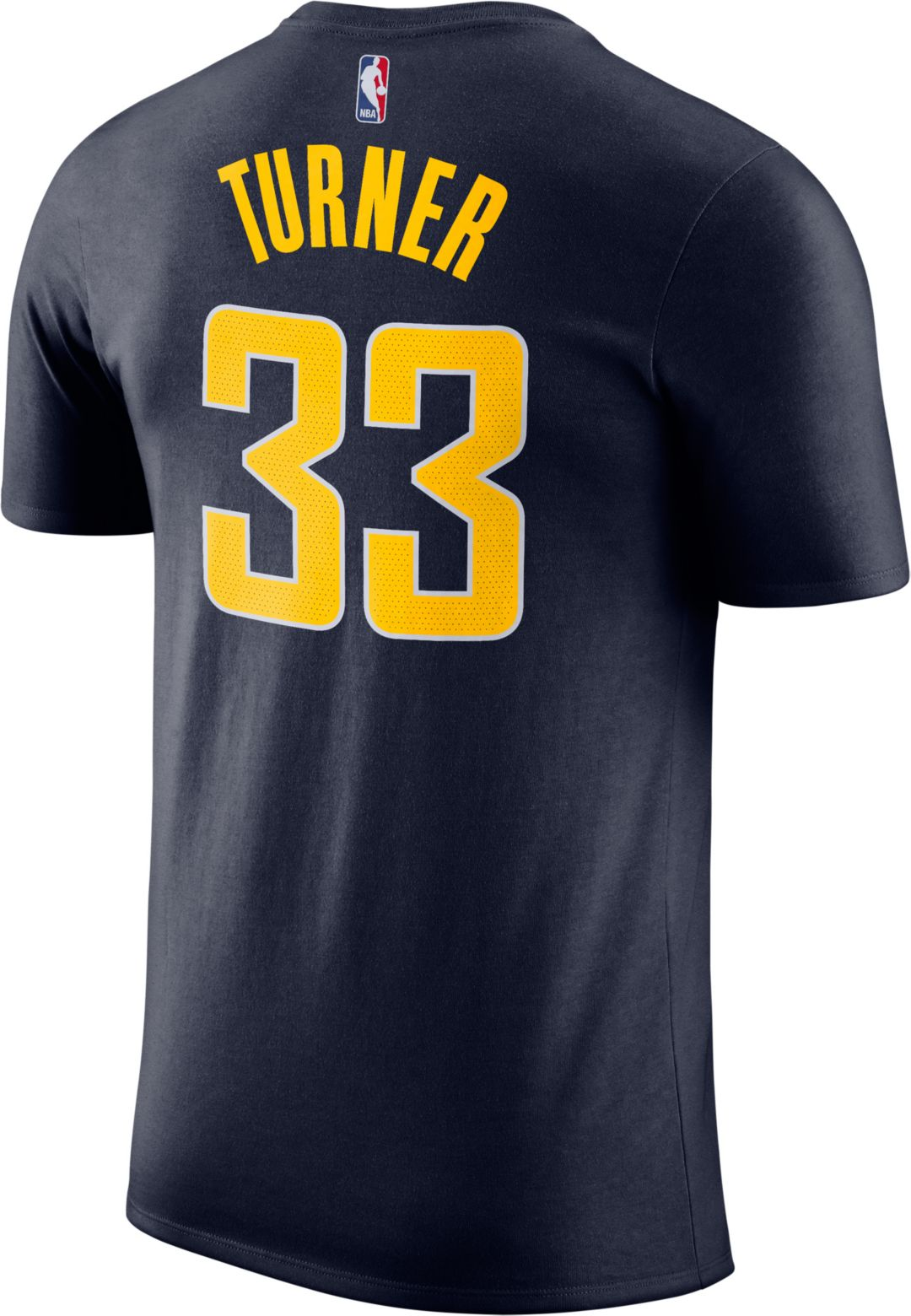 lowest price 0cfc8 e89f6 Nike Men's Indiana Pacers Myles Turner #33 Dri-FIT Navy T-Shirt