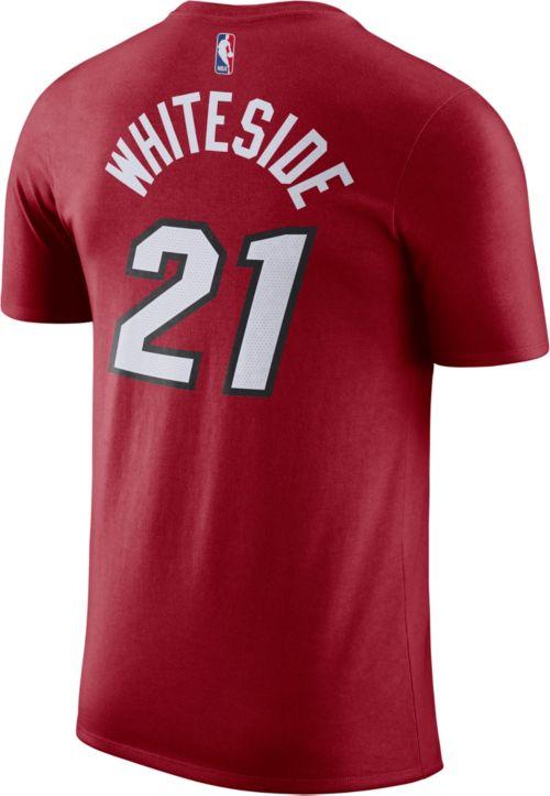 f18d50e00 low price nike mens miami heat hassan whiteside 21 dri fit red t shirt  876ff 12faa