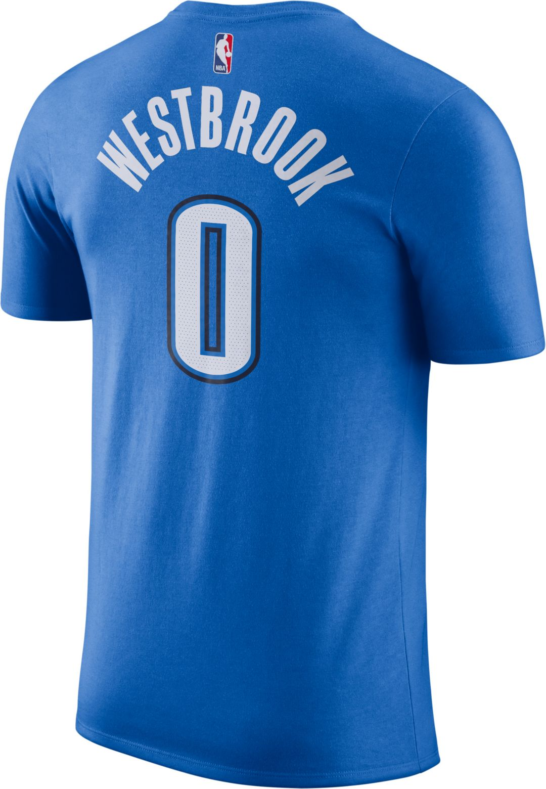 huge selection of bdf16 464ae Nike Men's Oklahoma City Thunder Russell Westbrook #0 Dri-FIT Blue T-Shirt